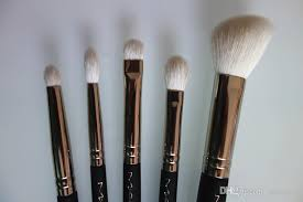 m a c professional brushes are hand sculpted and embled using the finest quality materials they feature wood handles and nickel plated br ferrules