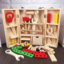 pretend toy kids wooden tools