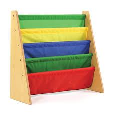 amazoncom tot tutors kids book rack storage bookshelf natural