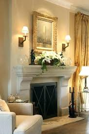 mantel lights fireplace lighting construction design ideas mantelpiece