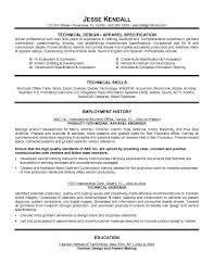 Technical Designer Resumes Technical Design Of Driven Professional With Fashion Designer Resume