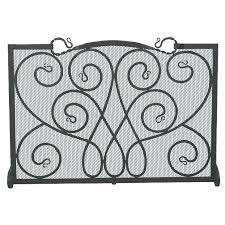 fireplace screen with candles decorative