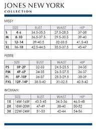 Jones Wear Size Chart Brand Name Plus Size Charts