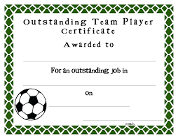 award certificates template soccer award certificate template best templates ideas