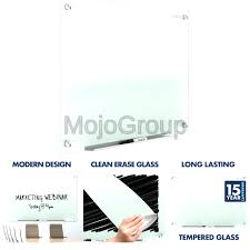 quartet glass whiteboard non magnetic dry erase white board 4 x 3