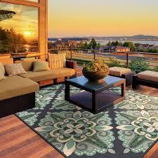 patio rug kailani contemporary blue green indoor outdoor area rug ygzvnsv