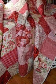 Shabby Chic Patchwork Quilts Shabby Chic Roses Vintage Look Double ... & Shabby Chic Patchwork Quilts Shabby Chic Roses Vintage Look Double Classic  Red And White Shabby Chic Adamdwight.com