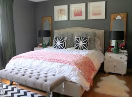 modern womans bedroom ideas. Interesting Bedroom Dark Grey Wall Color Scheme And Pink White Bedding Sets In Eclectic Bedroom  Design Ideas On Modern Womans Ideas R