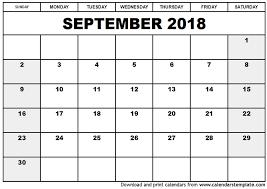 2018 calendar printable free september 2018 calendar with holidays uk monthly calendar template