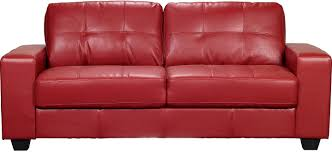 affordable furniture sensations red brick sofa. Costa Red Bonded Leather Sofa | The Brick Affordable Furniture Sensations T