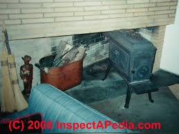 examples of unsafe fire clearances for woodstoves