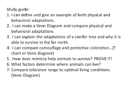 Plant And Animals Adaptations Venn Diagram Biomes Large Ecosystems With The Same Type Of Climate Animals