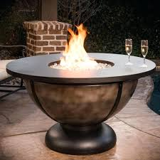 outdoor patio with fire pit classic table pits ideas round propane gas