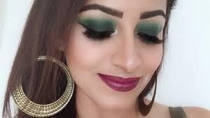 easy green smokey eyes makeup tutorial hindi deepti ghai sharma