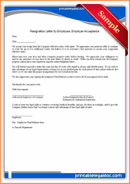 Accept Resignation Letter drafting resume examples