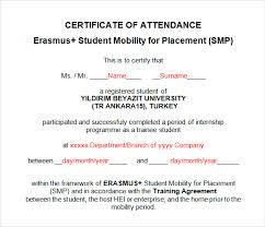 16 Sample Attendance Certificate Templates To Download Sample