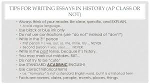 how to write the long essay question ppt  tips for writing essays in history ap class or not