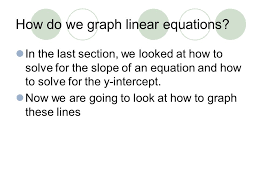 how do we graph linear equations