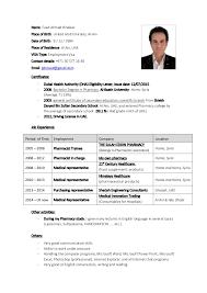 Perfect Clinical Pharmacist Curriculum Vitae Vignette - Professional ...