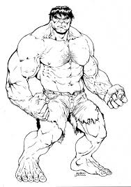 coloring book pages hulk free