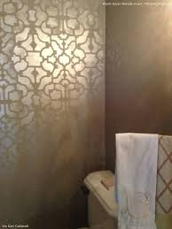 allover stenciling with modern masters metallic paint