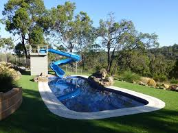 backyard pool with slides. Water Features You Can Fall In Love With Backyard Pool With Slides C