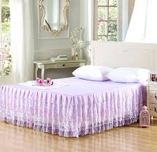 queen size bed skirts new tiered ruffle lace bed skirt bedspread cotton polyester blend fabric dust ruffle shabby chic bedding king queen size this item