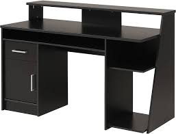 home office black desk. Architecture: L Shaped Glass Front Reception Desk With Regard To Drawers Prepare 2 Regarding Black Home Office