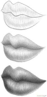 step 8 how to draw three quarter lips drawing