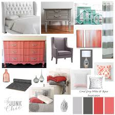 Incredible Ideas Coral And Grey Bedroom Serene Coral Combinations ...