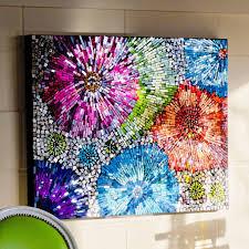 glass flower wall art image gallery mosaic art flowers