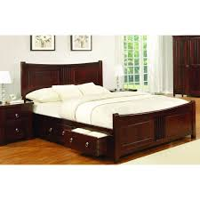 Sweet Dreams Double 4FT6 Solid Mahogany Bed Frame with Storage ...
