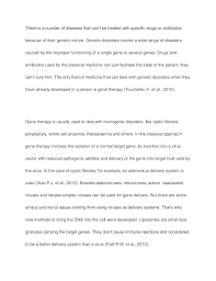 gene therapy biology sample paper essay