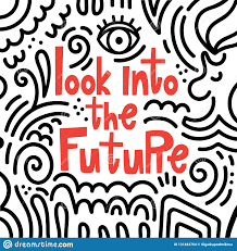 Look At The Future Of Graphic Design Look Into The Future Vector Illustration In Doodle Style