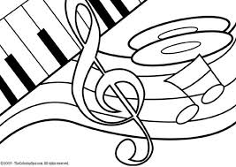Music Notes Coloring Pages Free Download Best Music Notes Coloring