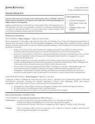 Law Enforcement Resume Sample Police Officer Objective Http Www