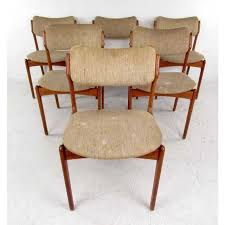 mid century skovby teak dining table and six od mobler chairs image 6 of