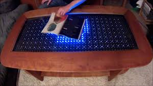coffee table reactive led coffee table arduino how to make led coffee table lighted coffee