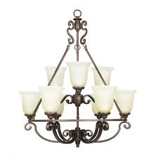 home decorators collection fairview 9 light heritage bronze chandelier