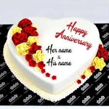 Write Name On Anniversary Cake Images My Name Pix India
