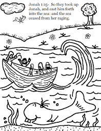 Jonah And The Whale Coloring Pages Swallow Bible Page Wumingme