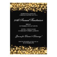charity gala invitations & announcements zazzle co uk Wedding Invitations Charity Uk formal corporate fundraiser party sparkles gold card wedding invitations charity uk