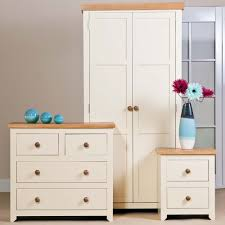 Mdf Bedroom Furniture Core Products Jamestown Cream Mdf Oak Bedroom Furniture Set Of 3