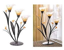 2Pcs Candle Stand Holder Calla Lilies Flower Shape ... - Amazon.com