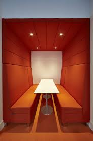 improving acoustics office open. Meeting Booth \u003e\u003e Huddle Space This Cool Orange Seating Makes A Great Improving Acoustics Office Open