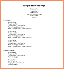 How To Do A Reference Page For A Resume Inspiration References On Resume Examples Example Directory Sample Reference