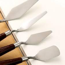 5pcs pro stainless steel artist oil painting palette knife spatula set paint art