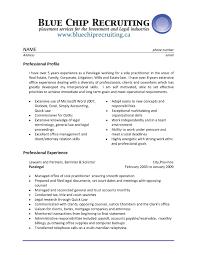 Resume For Secretaries Free Sample Sample Resume For Legal Secretary