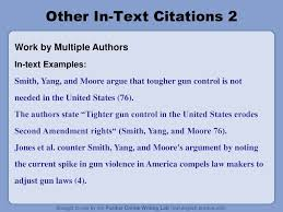 In Text Citations The Basics Ppt Download