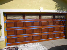 diy faux wood garage doors. Step 7 - The Last Spaces To Paint Are Vertical At Either Side Of Door. Door Is Painted In This Manner Because If It Where Real Wood That Diy Faux Garage Doors T